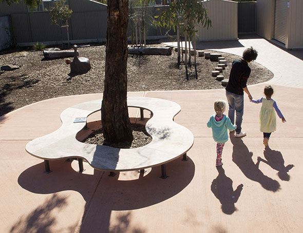 Kalaya childrens centre outerspace landscape architects for Outer space landscape architects adelaide