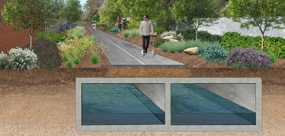 Brown hill keswick creek upgrade outerspace landscape for Outer space landscape architects adelaide