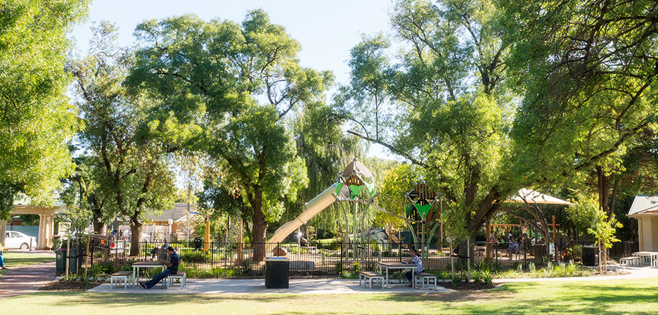 Prospect memorial gardens play space outerspace for Outer space landscape architects adelaide