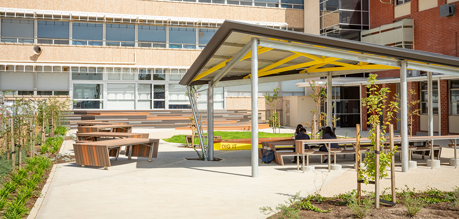 Norwood Morialta Highschool Courtyard - Image 1