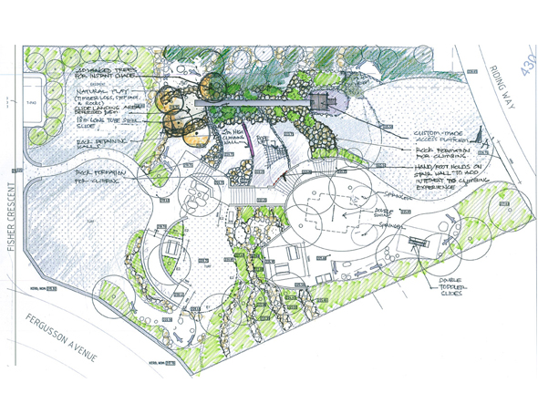 Play space design at central reserve blackwood park for Outer space garden design cumbria